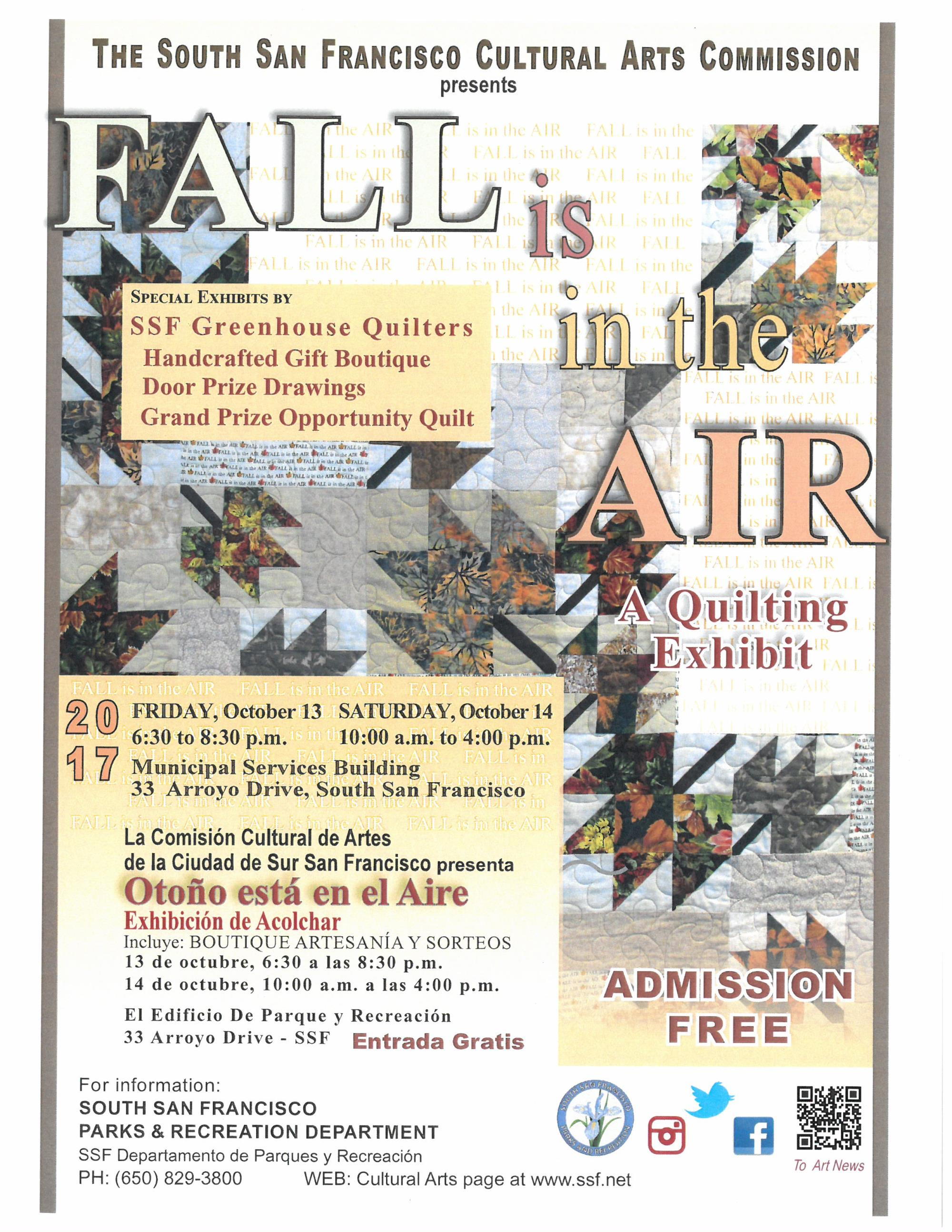 Fall is in the Air - Quilt Show Flyer