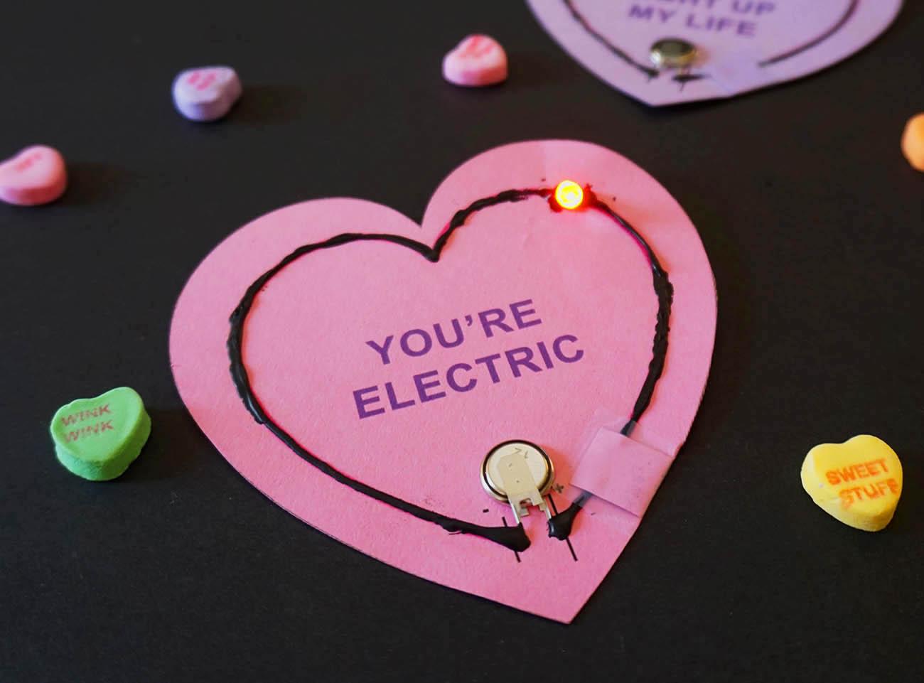Grand Light Up Valentine Circuits Cards City Calendar City Of
