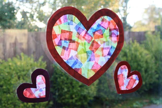 Stained-Glass-with-Tissue-Paper-and-Wax-Paper