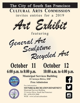 SSF October 2019 Art Exhibit Flyer-Inviting Entries