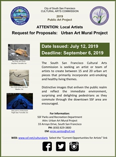 Current Opportunities for Artists | City of South San Francisco