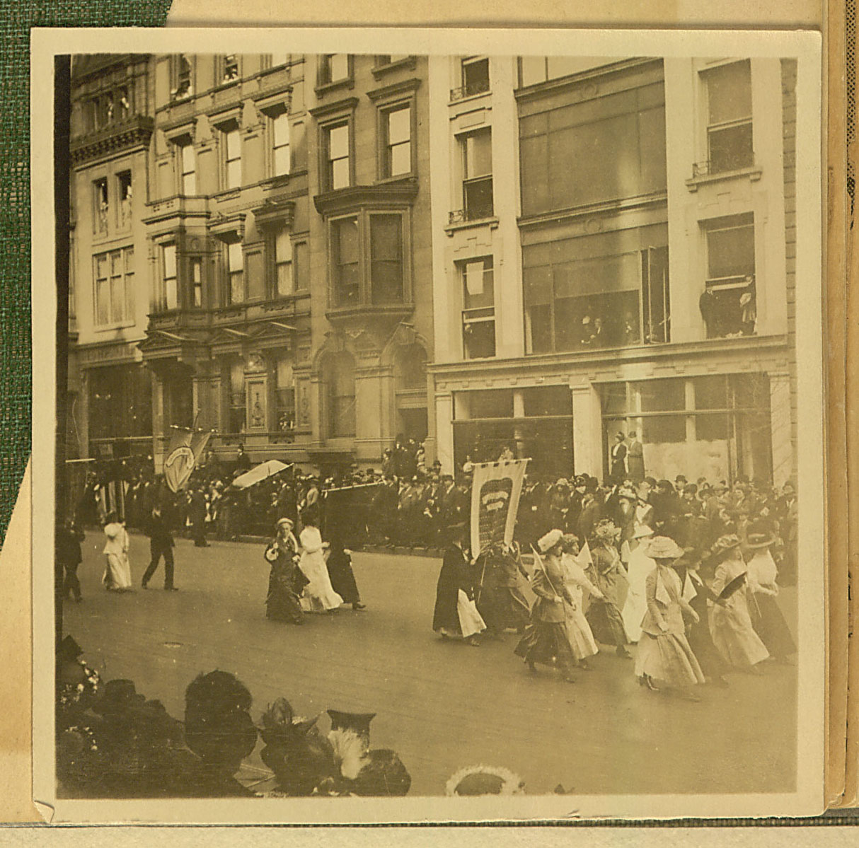 Photo of suffragist parade